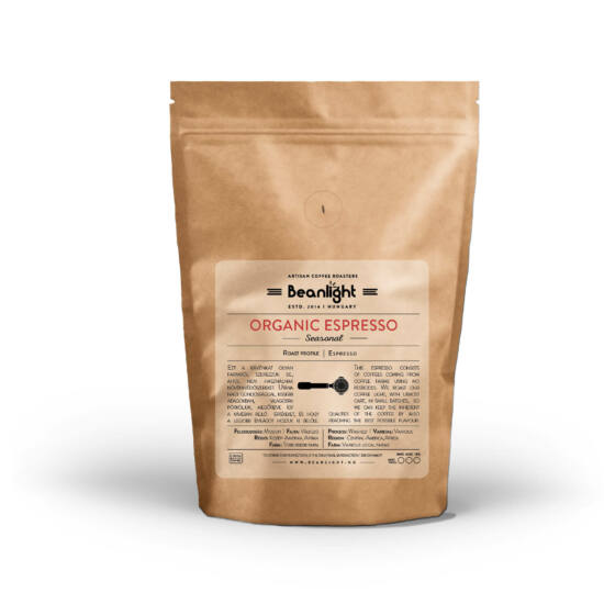 Organic Espresso 400g specialty kávé
