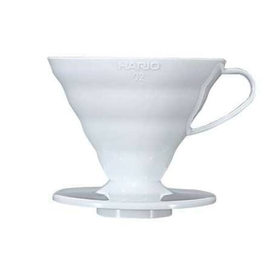 Hario V60 Plastic Coffee Dripper 02 White (VD-02W)